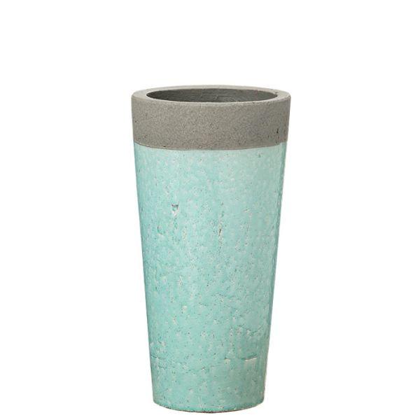 Vase Steingut hellgrün klein