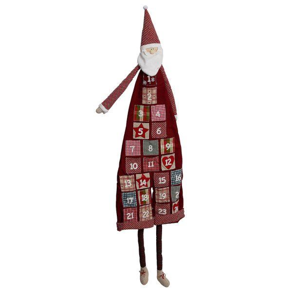 Textil-Adventskalender Nikolaus rot