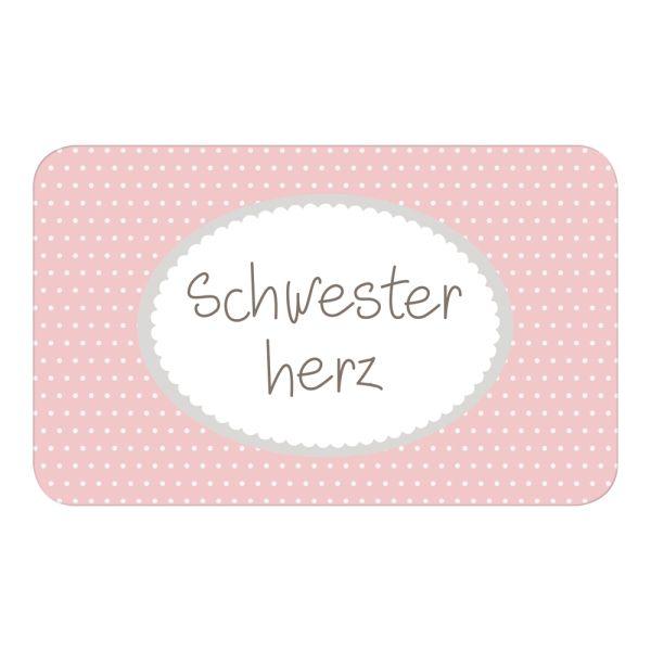 Frühstücksbrettchen rosa Schwesterherz