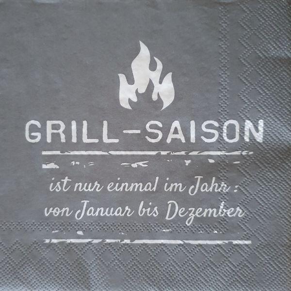 Papier-Serviette grau Grill-Saison