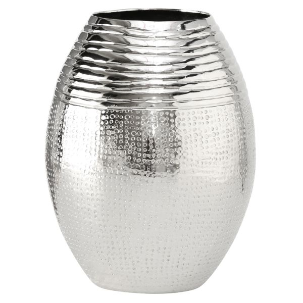 Vase Aluminium rund silber - Ellipse