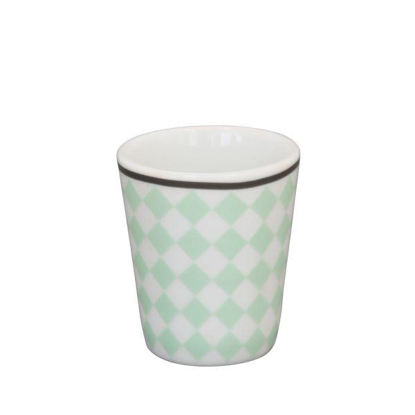 Eierbecher Porzellan Harlekin hellgrün
