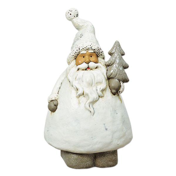 Weihnachtsmann weiss - silberner Christbaum