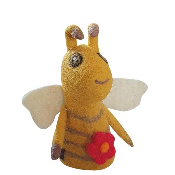 Eierwärmer Biene Filz gelb Landhausstil