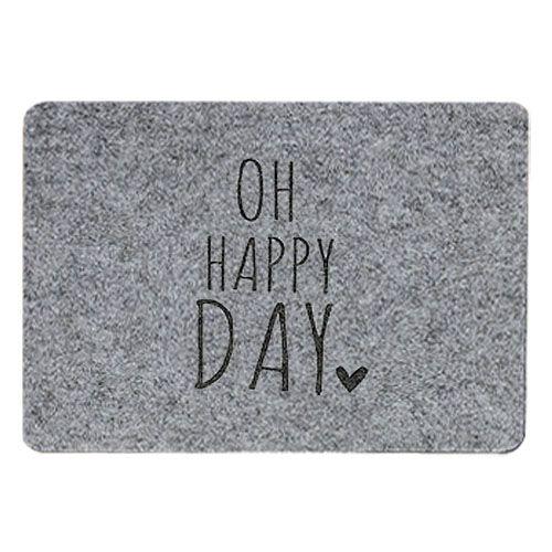 Tischset Filz grau - Oh happy