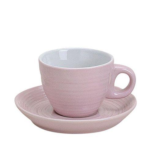 Espressotasse mit Unterteller rosa