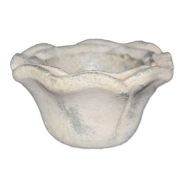 Schale Rose - beige Keramik