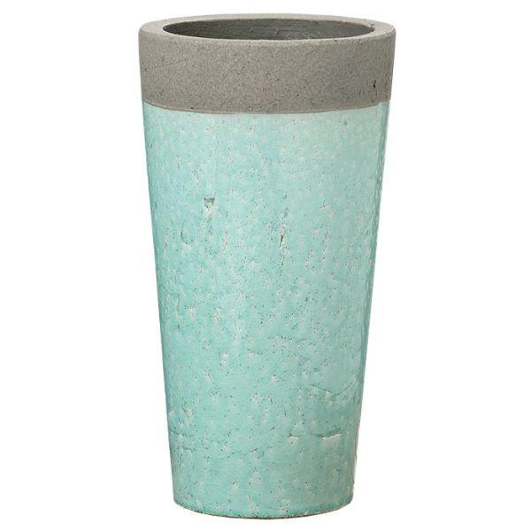 Vase Steingut hellgrün gross