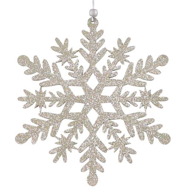Glitzer-Weihnachtsstern silber Schneeflockentraum