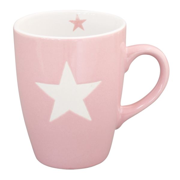 Becher Tasse Star rosa