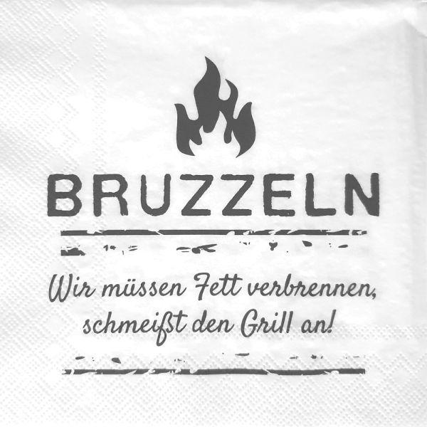 Papier-Serviette weiss Bruzzeln