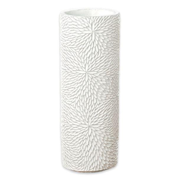 Vase Beton weiss gross