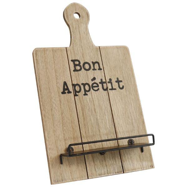Kochbuchständer Holz braun - Bon Appetit