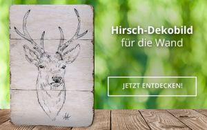 Hirsch-Dekobild für die Wand