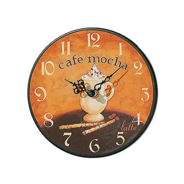 Wanduhr Küchenuhr Coffee klein cafe mocha