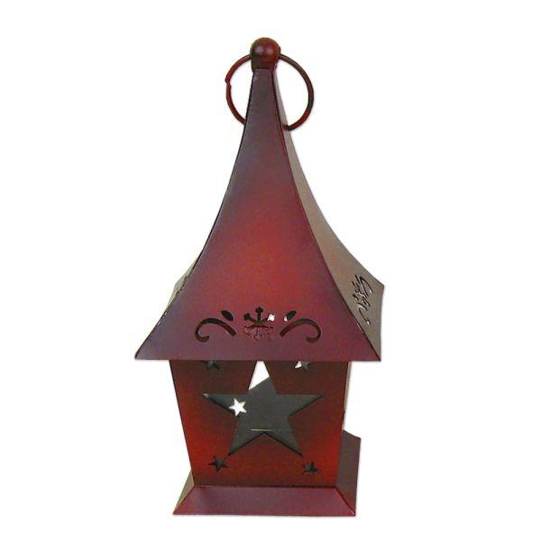 Laterne Stern Weihnachten - rot