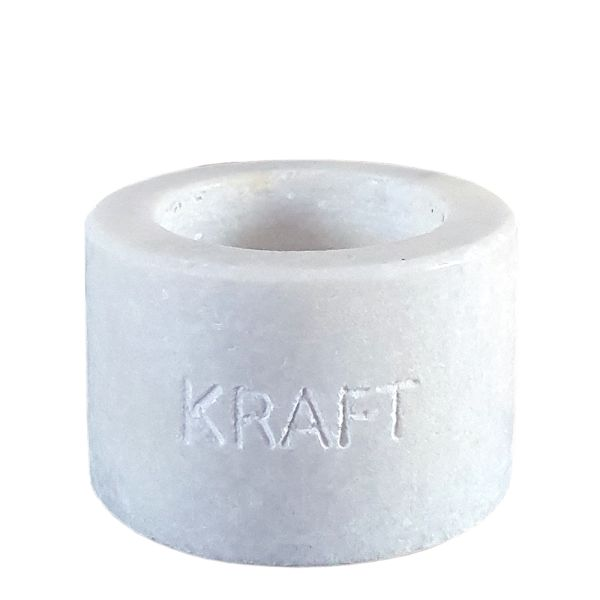 Teelichthalter Stein grau Kraft