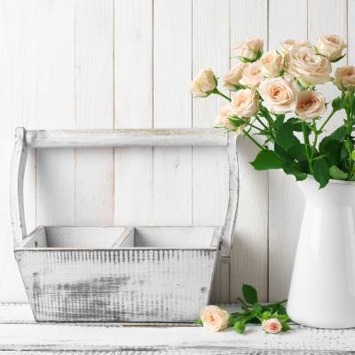 Vasen im Landhausstil