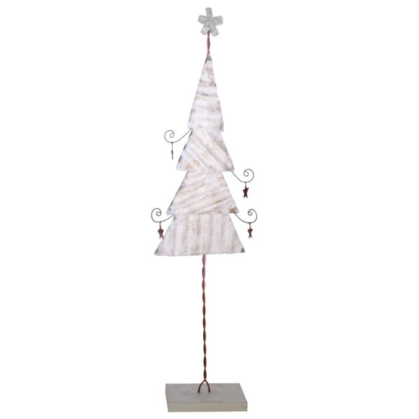 Deko-Weihnachtsbaum Metall weiss