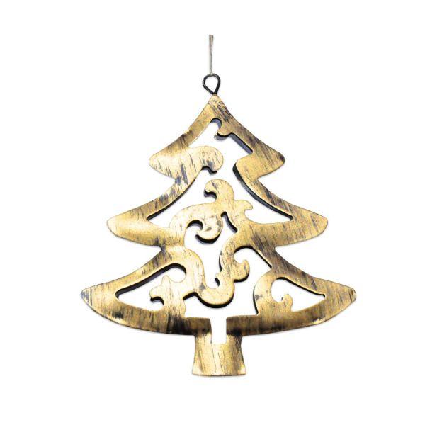 Weihnachtsanhänger Christbaum - Metall - klein