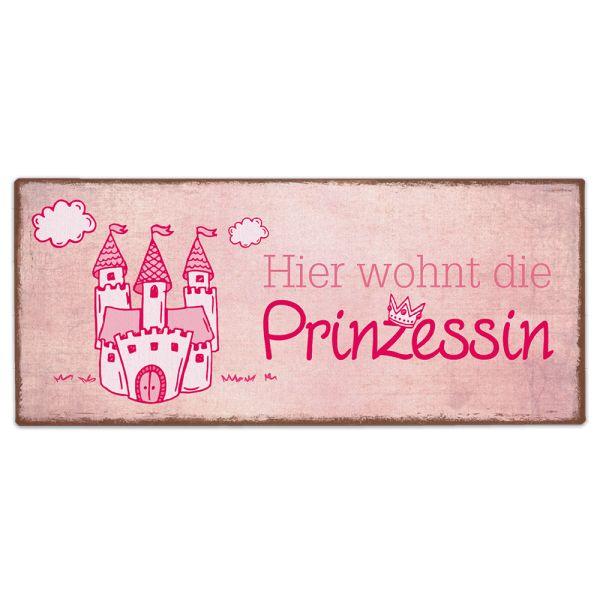 Metallschild rosa Prinzessin