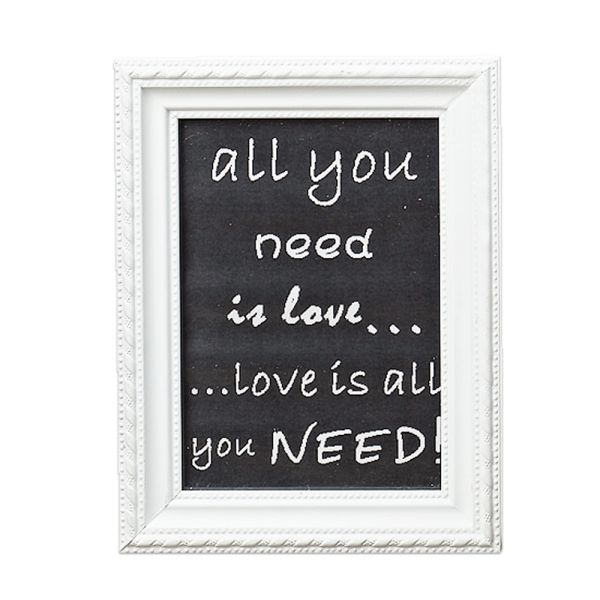 Bilderrahmen weiss All you need is Love