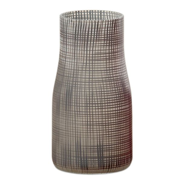 Vase Karo aus Glas - dunkelbraun