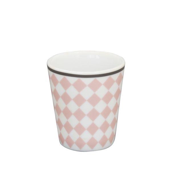 Eierbecher Porzellan Harlekin rosa